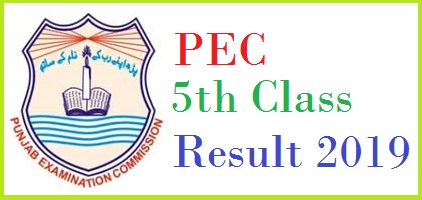 PEC 5th Class Result 2020 Check Online Roll No Wise