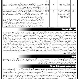 District Health Authority NTS Jobs 2021 Application Form Roll No Slip