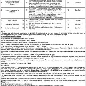 Water & Power Development Authority WAPDA PTS Jobs 2020 Application Form Roll No Slip