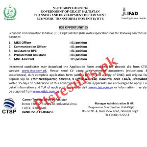 Planning & Development Department GB Jobs 2020 CTSP Application Form