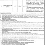 Punjab Food Authority Deputy Director Law NTS Jobs 2020 Application Form Roll No Slip