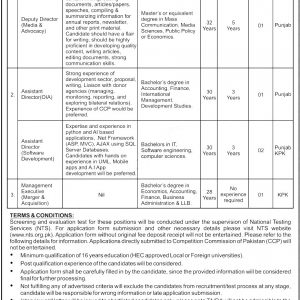 Competition Commission Pakistan CCP 2020 NTS Test Roll No Slip