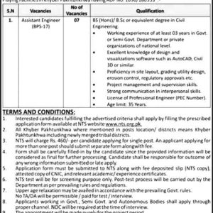 Directorate General of Sports KPK NTS Jobs 2020 Application Form Roll No Slip