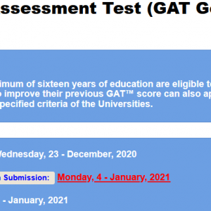 Graduate Assessment Test GAT General 2021-I NTS Apply Online Roll No Slip