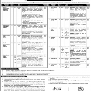 Sehat Sahulat Program SSP OTS Jobs 2020 Application Form Roll No Slip