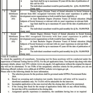 Deputy Commissioner Battagram NTS Jobs 2020 Application Form