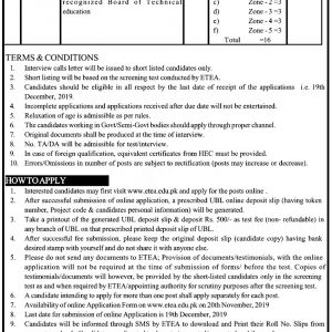 Public Health Engineering Department ETEA Jobs 2020 Application Form