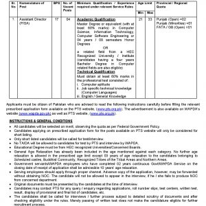 WAPDA Water & Power Development Authority PTS Jobs 2020 Test Preparation Online