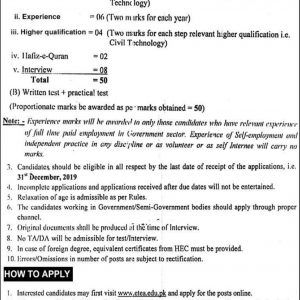 Communication and Works Department Jobs 2020 ETEA Roll No Slip