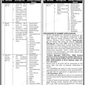 Sindh High Court STS Jobs 2020 Roll No Slip