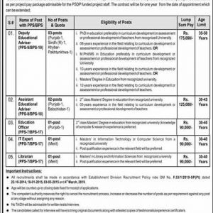 Federal Education & Professional Training OTS Jobs 2020 Roll No Slip