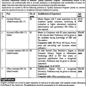 Higher Education Department KPK Jobs 2020 ETEA Roll No Slip