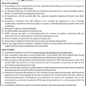 Water & Sanitation Services Peshawar WSSP ETEA Jobs 2020