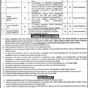 TMA Peshawar Jobs 2020 ETEA Roll No Slip