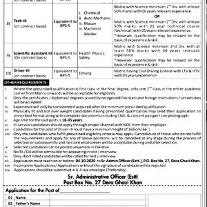 PAEC PO Box 27 Jobs 2020 Application Form