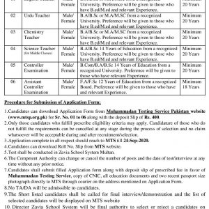 Zavia School System Multan Jobs 2021