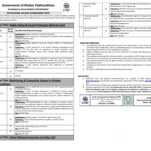 Public Policy & Social Protection Reforms Unit CTSP Jobs 2020 Apply Online Roll No Slip Syllabus Download Online