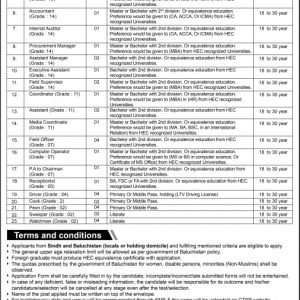 Baluchistan Fishermen Cooperative Society Jobs 2021