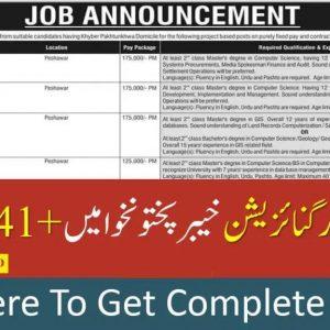 Land Record Peshawar ETEA Jobs 2020 Apply Online Roll No Slip Test Schedule Download Online