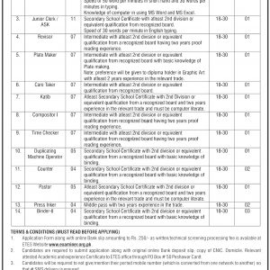Government Printing and Stationary Department Job 2021 Examiner Application Form Roll No Slip