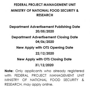 MNFSR OTS Jobs 2021 Apply Online Roll No Slip Download Online