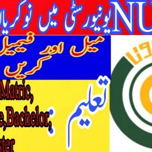 NUMS University Rawalpindi Jobs 2020 Application Form Eligibility Criteria Test Schedule Download Online