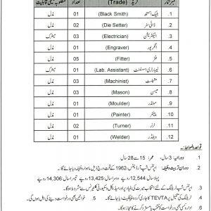 Pakistan Mint Lahore Internship 2021 NTS Application Form Roll No Slip Test Schedule Download Online