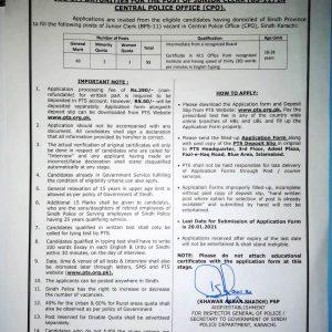 Sindh Police Junior Clerk Jobs 2021
