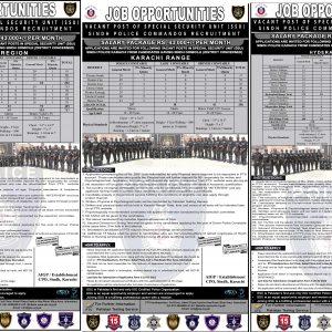 Sindh Police SSU Commandos Jobs 2021