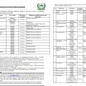 Federal Government Employees Housing Authority Jobs 2021 Apply Online