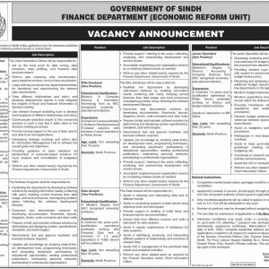 Finance Department Sindh Jobs 2021 Application Form & Interview Date