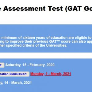 NTS Graduate Assessment Test GAT General 2021 II Online Registration Roll No Slip Download