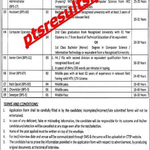 Home Department KPK Jobs 2021 CTSP Application Form