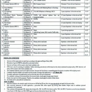 KPK Public Sector Organization PO Box 722 Jobs 2021 ETEA Apply Online Roll No Slip Download