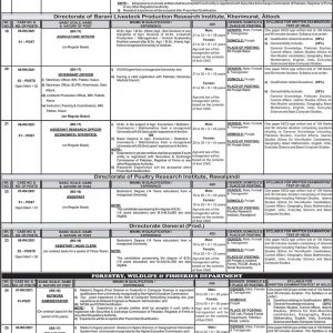 PPSC Forestry Wildlife & Fisheries Department Jobs 2021 Apply Online Roll No Slip Download