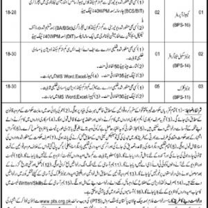 PTS Commissioner Office Malakand Jobs 2021