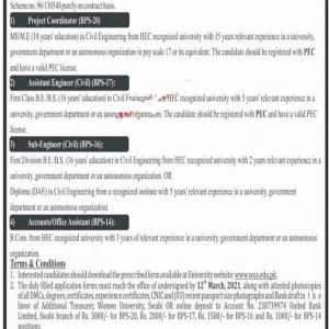 Women University Swabi Jobs 2021 Application Form Interview Date Check Online