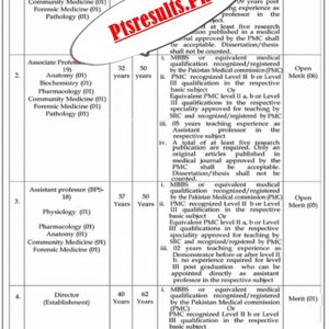 Federal Medical College Islamabad Jobs 2021 Application Form