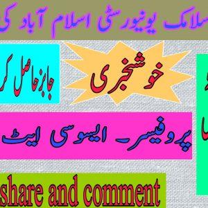 IIUI International Islamic University Islamabad Jobs 2021 Apply online