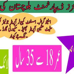 Minorities Affairs Department Balochistan Jobs 2021 Application form