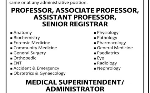 Islamic Medical College Sialkot Jobs
