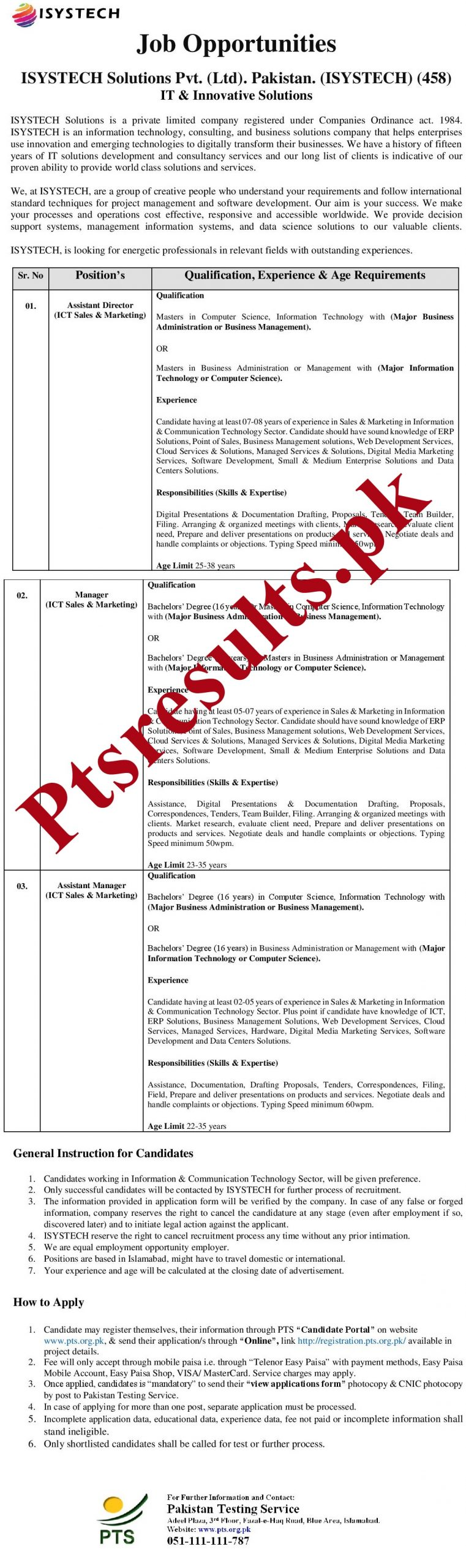 ISYSTECH Solutions Pvt PTS Jobs