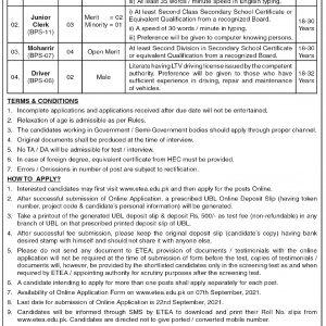 Deputy Commissioner Abbottabad ETEA Jobs 2021 Apply Online Roll No Slip