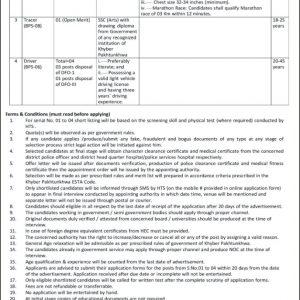 Forest Department Peshawar HTS Jobs 2021 Application Form Roll No Slip