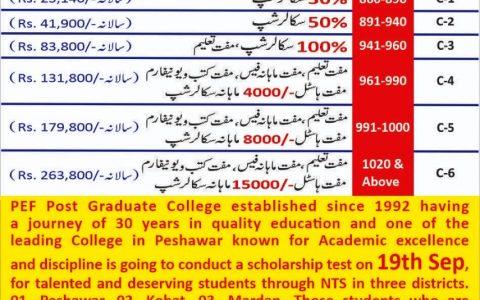 PEF Post Graduate College Scholarship